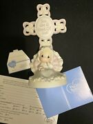 Precious Moments You Are A Child Of God Bisque Porcelain Cross Girl 4004681