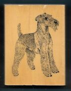 Airedale Terrier Dog Breed House Pet Puppy Stamp Gallery New Wood Mount Rubber