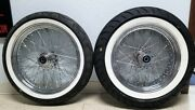 18/130 And 16/200 Vee Rubber Ww Tires + Spoked Wheels Kit - Mounted And Balanced