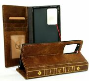 Genuine Leather Case For Samsung Galaxy Note 20 Ultra Wallet Book Bible Cover 5g
