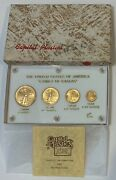 1986 First Year Of The American Gold Eagle 4 Piece Set In Capital Plastic Casing