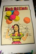 Fiesta Del Monte Advertising Poster Pstr-10 Girl With Balloons 35x25