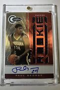 2010-11 Totally Certified Red /99 Paul George Rc Auto Jersey On Card Auto