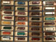 N Scale Con-cor Rolling Stock Freight Cars New Old Stock Box Car Reefers Hoppers