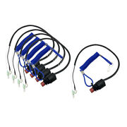 5x Boat Outboard Motor Kill Stop Switch And Safety Tether Lanyard For Yamaha