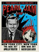 Pearl Jam Poster - Nyc 2020 Ian Williams S/n Artist Edition - Sold Out Xx/100
