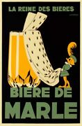 Art-print-courchinoux-signs-biere-de-marle-on-paper-canvas-or-framed
