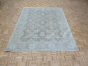7and03911 X 9and0398 Hand Knotted Brown William Morris Peshawar Oushak Oriental Rug G8861
