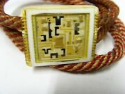 1950s Antique Art Electronic Circuitry Lucite Bolo Tie Western America Usa 50786