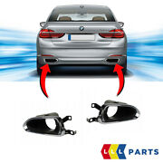 New Genuine Bmw 7 Series G11 G12 Rear Exhaust End Pipe Trims Pair Set N/s + O/s
