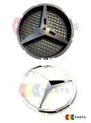 New Genuine Mercedes-benz C B Gla E Cla Radiator Grill Star Badge + Base Plate