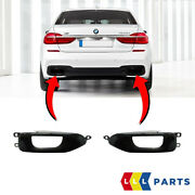 New Genuine Bmw 7 Series G11 G12 M Sport Exhaust End Pipe Trims Pair Set N/s+o/s
