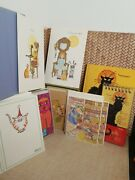 Lot Of 36 Vtg Kitty Cat Christmas Holiday Greeting Cards And Note Book And Note Pad