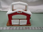 Fisher Price Little People Fence Barn Food Stable Shed Farm Loft Doors Building