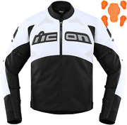 Icon Contra 2 Leather Perforated Jacket Xl White