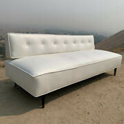 Mid Century Modern 1950's White Vinyl Couch/daybed