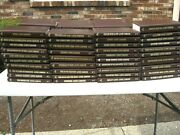 Large Lot 80 Louis L'amour Leatherette Books Brown Covers Most Great Cnd