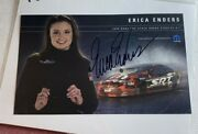 Signed Erica Enders 2006 Pro Stock Dodge Stratus Nhra Photo Card 6 X 10 N 1051