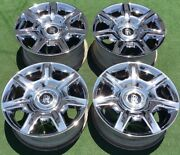 Factory Chrome Rolls-royce Ghost Wheels Set 4 Genuine Original Oem 20 In Wraith