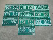 10 Vermont License Plate Lot For Collecting Or Decorating Man Cave 2