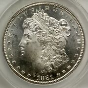1881 S Prooflike Morgan Vam54b Hitlist 40 Wounded Eagle Anacs Ms64 Obv Pl Nice