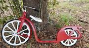 Vintage 1930's Hiawatha Scooter - Bicycle Mostly Restored Removable Seat Gimbles