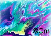Unique Abstract Original Multicoloured By Clements Mcculloch Canvas Prints
