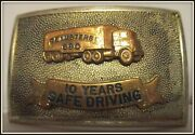 Teamsters 690 10 Years Safety Hand Made And Engvd Irvine Jachens Belt Buckle 2