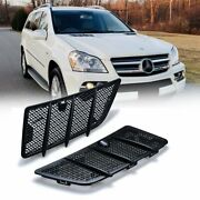 Pair Hood Air Vent Grille Cover For Mercedes Benz 08-11 W164 Gl Ml Class 350 450