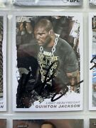 Quinton Rampage Jackson Signed Topps Ufc Moment Of Truth Trading Card