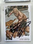 Tito Ortiz Signed Topps Ufc Moment Of Truth Trading Card