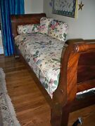 Antique Louis Phillipe Sleigh Day Bed