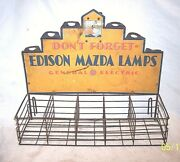 Early Edison Mazda Automobile Ge Display Light Store Counter Advertising