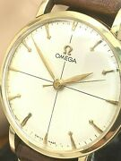 Omega Menand039s Watch Vintage 14k Solid Gold 33mm Case 1947 Swiss Hand Winding 2416