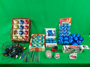 Christmas Ornaments From The 1950's And 1960's Lot Of Over 110 Mixed Items