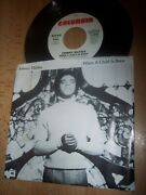Vg++ 1976 Johnny Mathis When A Child Is Born Demo 7 45rpm W/pic Slv