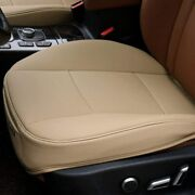 Beige Pu Leather Car Cover Seat Deluxe Protector Cushion Front Cover Universal