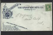 Petersburgvirginia.1909 Cover Flag Cancel. Illust Ad. The South Side Mfg Co.