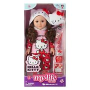 New My Life As 18 Poseable Hello Kitty Doll, Brown Hair