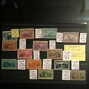 United States 1893 Columbia Exposition Set Of 13 Stamps Mh Ng V. High Value Rare