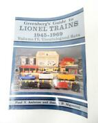 Greenbergand039s Guide To Lionel Trains Uncatalogued Sets 1945-69 Vol 4 1st Ed Book