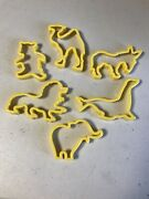 Vintage Animals Cookie Cutter Lion Donkey Bear Seal Camel Elephant 1970's