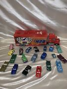 Disney Cars Toy Mack 400 Hauler Truck With 20 Diecast Cars Lot