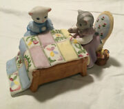 Kitty Cucumber Quilting Bee Music Box By Schmid Excellent Condition Musical