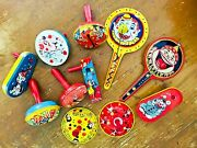 Lot Of 11 Vintage Tin Lithograph Noisemakers 1930+ All Working Free Shipping