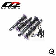 D2 Racing D-su-01 Rs Coilovers Lowering Coils Kit For 1998-2002 Subaru Forester