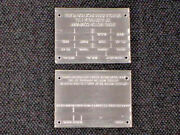 Australia Built Ford Data Plate 2 Different - Stamped Aluminum Vintage Choice