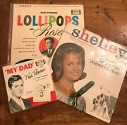 3 Record Albums Shelley Fabares And Paul Petersen 1950and039s Donna Reed Show Rare F/s