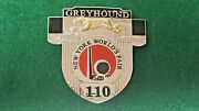 Greyhound Bus Drivers Badge 1939 World Fair New York 3-d Gold Dog