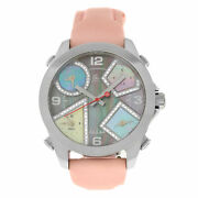 Unisex Jacob And Co. Five 5 Time Zone Watch Jcm-54pda Diamond Steel 40mm Mop